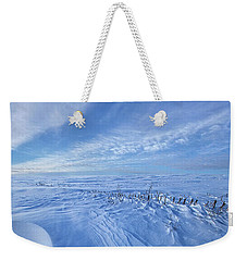 Weekender Tote Bag featuring the photograph Baby It's Cold Outside by Phil Koch