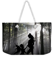 Weekender Tote Bag featuring the photograph Baby Magic 589 by Ericamaxine Price