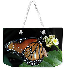 Baby Monarch Macro Weekender Tote Bag