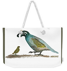 Baby Quail Learns The Rules Weekender Tote Bag