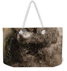 Baby Snowy Owl Weekender Tote Bag