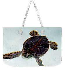 Weekender Tote Bag featuring the photograph Baby Turtle by Francesca Mackenney