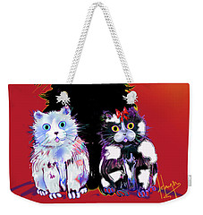 Baby Wu, Baby Moo, And Snowflake Dizzycats Weekender Tote Bag by DC Langer