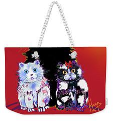 Baby Wu, Baby Moo, And Snowflake Dizzycats Weekender Tote Bag