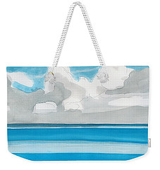 Weekender Tote Bag featuring the painting Bacalar, Mexico by Dick Sauer