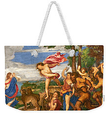 Bacchus And Ariadne Weekender Tote Bag by Titian