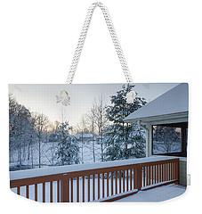 Winter Deck Weekender Tote Bag