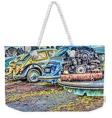 Weekender Tote Bag featuring the photograph Back End Bugs by Jean OKeeffe Macro Abundance Art