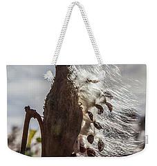 Back Lit Milkweed Pod Weekender Tote Bag