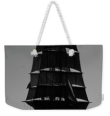 Back Lit Tall Ship Weekender Tote Bag