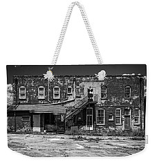Weekender Tote Bag featuring the photograph Back Lot - Bw by Christopher Holmes