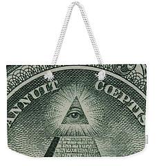 Back Of 1 Dollar Bill Weekender Tote Bag
