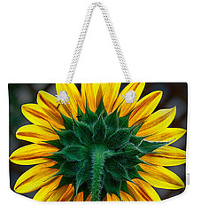 Back Of Sunflower Weekender Tote Bag