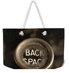Back Space Weekender Tote Bag