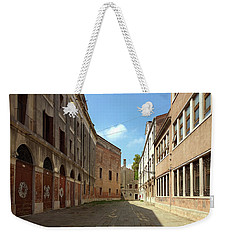 Weekender Tote Bag featuring the photograph Back Street In Venice by Anne Kotan