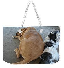 Back To Back Weekender Tote Bag by Val Oconnor