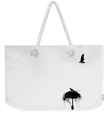 Weekender Tote Bag featuring the photograph Back To The Nest by AJ Schibig