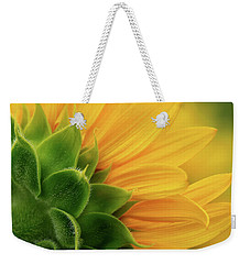 Back View Of Sunflower Weekender Tote Bag
