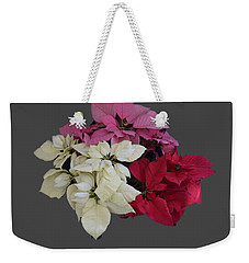 Weekender Tote Bag featuring the photograph Background Choice-pointsettias by R  Allen Swezey