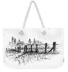 Backlit Fence Weekender Tote Bag