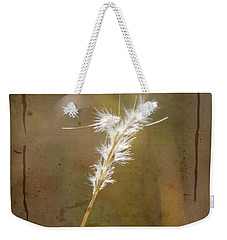 Weekender Tote Bag featuring the photograph Backlit Grass by Kathy Adams Clark
