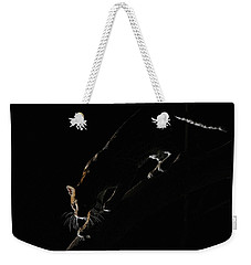 Backlit Ocelot Weekender Tote Bag by Wade Aiken