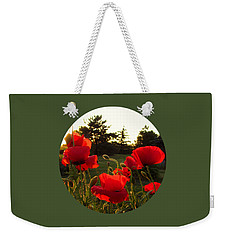 Backlit Red Poppies Weekender Tote Bag by Mary Wolf