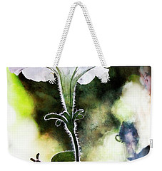 Backlit White Flower Weekender Tote Bag
