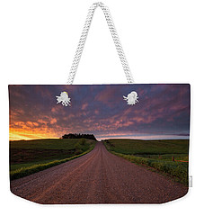 Weekender Tote Bag featuring the photograph Backroad To Heaven  by Aaron J Groen