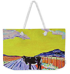 Weekender Tote Bag featuring the painting Backroads Abiquiu, New Mexico by Brenda Pressnall