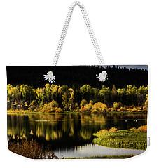 Backwater Blacks At Oxbow Bend Weekender Tote Bag