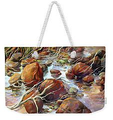 Backwater Sticks And Stones Weekender Tote Bag by Rae Andrews