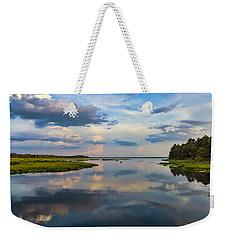 Backwater Sunset Weekender Tote Bag