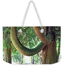 Backyard Cedar Weekender Tote Bag
