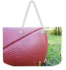 Weekender Tote Bag featuring the photograph Backyard Football by Robert Knight