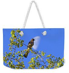 Backyard Noise Pollution Weekender Tote Bag by Kimo Fernandez