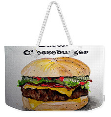 Bacon Cheeseburger Weekender Tote Bag