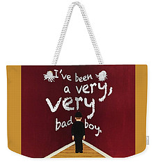 Bad Boy Greeting Card Weekender Tote Bag by Thomas Blood