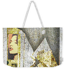 Weekender Tote Bag featuring the mixed media Bad Luck by Tony Rubino