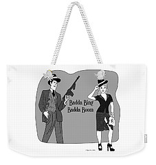 Weekender Tote Bag featuring the digital art Baddabing by Megan Dirsa-DuBois