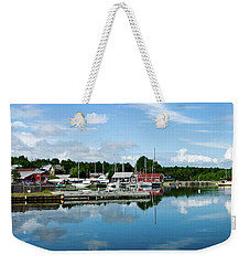 Baddeck Harbor Panorama Weekender Tote Bag
