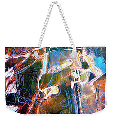 Weekender Tote Bag featuring the painting Badlands 1 by Dominic Piperata