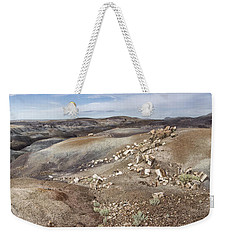 Weekender Tote Bag featuring the photograph Badlands In Petrified Forest by Melany Sarafis