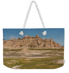 Badlands National Park In South Dakota Weekender Tote Bag by Brenda Jacobs