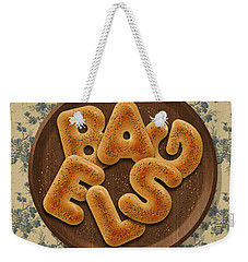 Bagels Weekender Tote Bag by La Reve Design