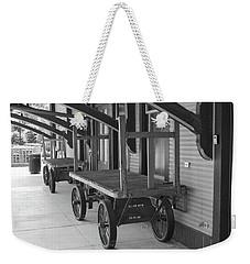 Baggage Carts Bw Weekender Tote Bag