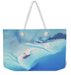 Weekender Tote Bag featuring the photograph Bahama Banks Aerial Seascape by Roupen  Baker
