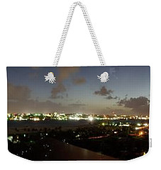 Weekender Tote Bag featuring the photograph Bahama Night by Jerry Battle