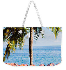 Weekender Tote Bag featuring the photograph Bahama Vibes by Parker Cunningham