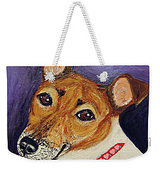 Bailey Terrier Mix Weekender Tote Bag